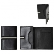 West Side Leather Name Card Holder LNC003BK
